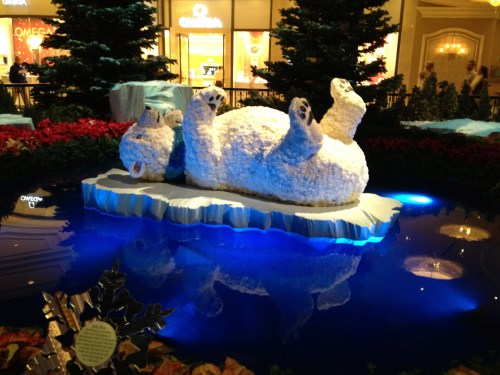 The Bellagio's floating polar bear!