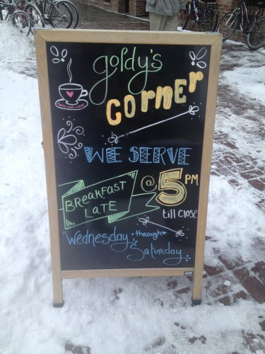 Sign: Goldy's in Boise