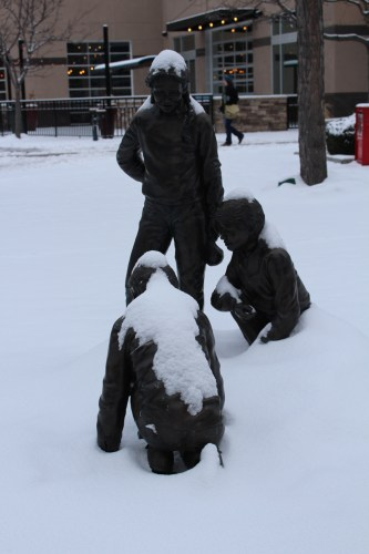 Sculptures in the snow, Boise