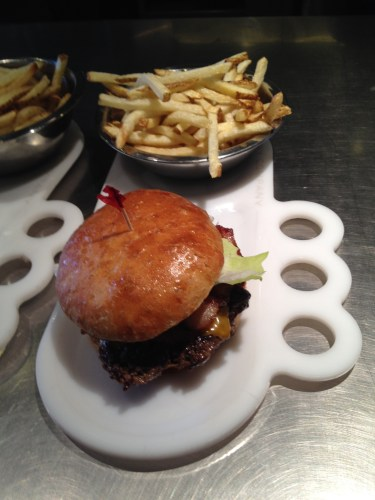 Boise Fry Company: fries with burger on the side