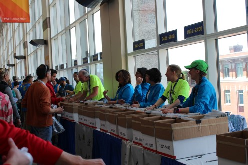 Bib pickup: Hynes Convention Ctr