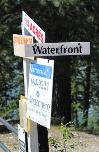 Signs pointed the way to desirable waterfront property on Lake Coeur d'Alene