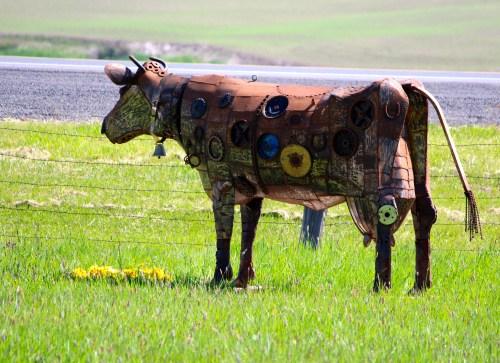 Folk art cow