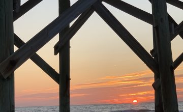 Sunrise at Pawleys Pier, Pawleys Island, SC