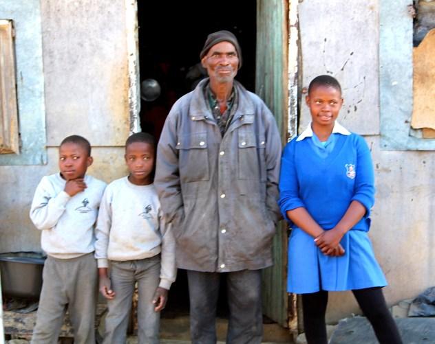 Family in Lesotho