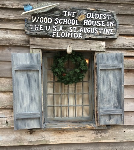 Window of Oldest Wooden Schoolhouse