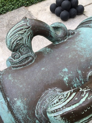 Detail of bronze cannon, Castillo de San Marcos