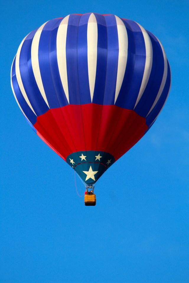Red, white, & blue -- Balloon Fiesta 2014