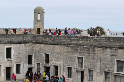 Above and below -- Castillo de San Marcos