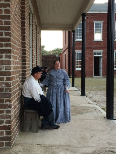 Re-enactors at Fort Clinch
