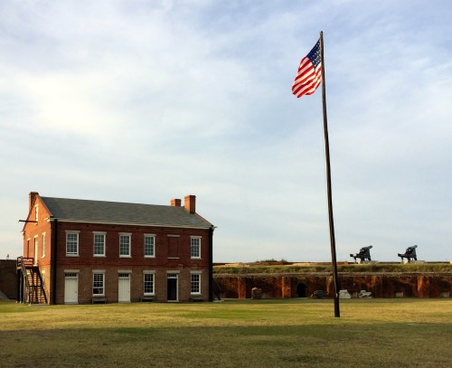 Buildings and battlements at Fort Clinch, Fernandina Beach, Amelia Island