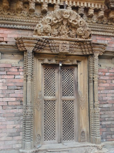 Highly carved window, Bakhtapur