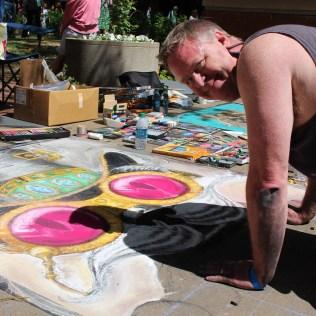 Michael Gunnels, Chalk Walk 2015 artist