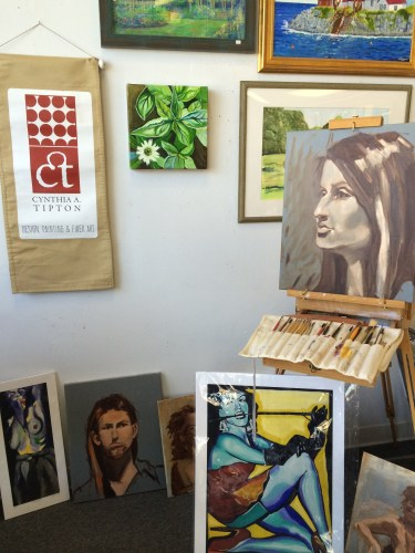 Work of Cynthia Tipton and others on display at Davis Studio, Knoxville.