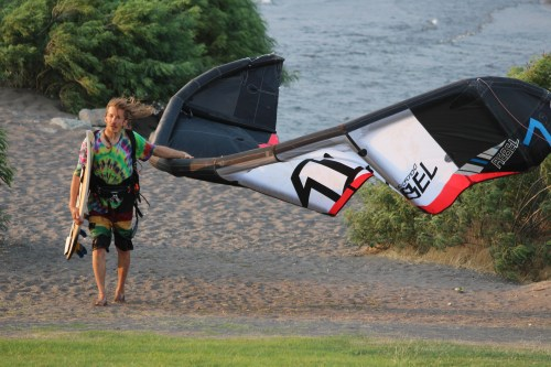 Winding down -- a kiter calls it a day