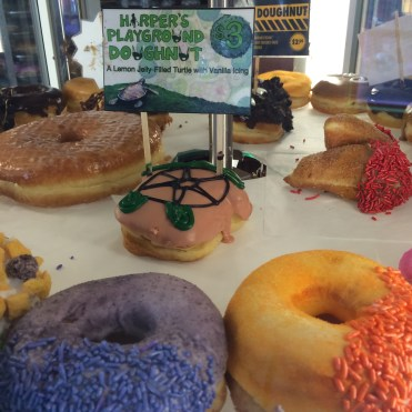 Creative doughnuts whirl around in front of you as you try hard to choose just one: Voodoo Doughnuts, Portland.