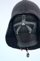 Darth Vader rides the skies!