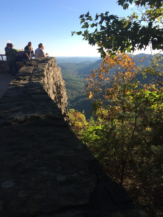 Looking for autumn color at Pinnacle Overlook in Cumberland Gap National Historical Park