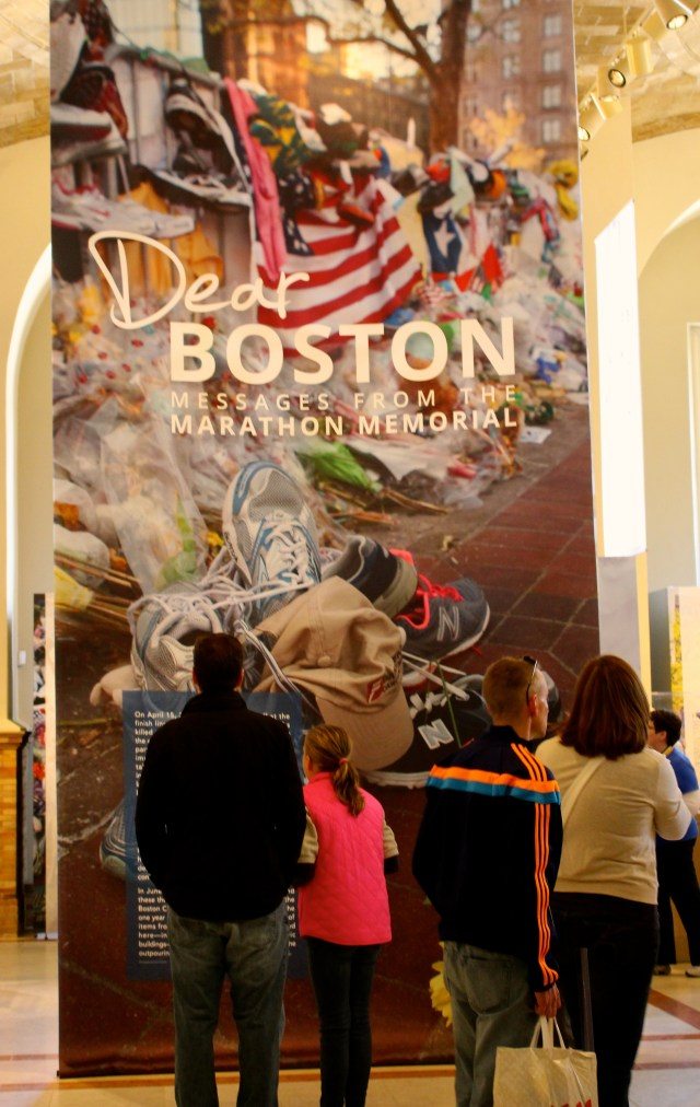 Entrance to Boston Marathon Memorial