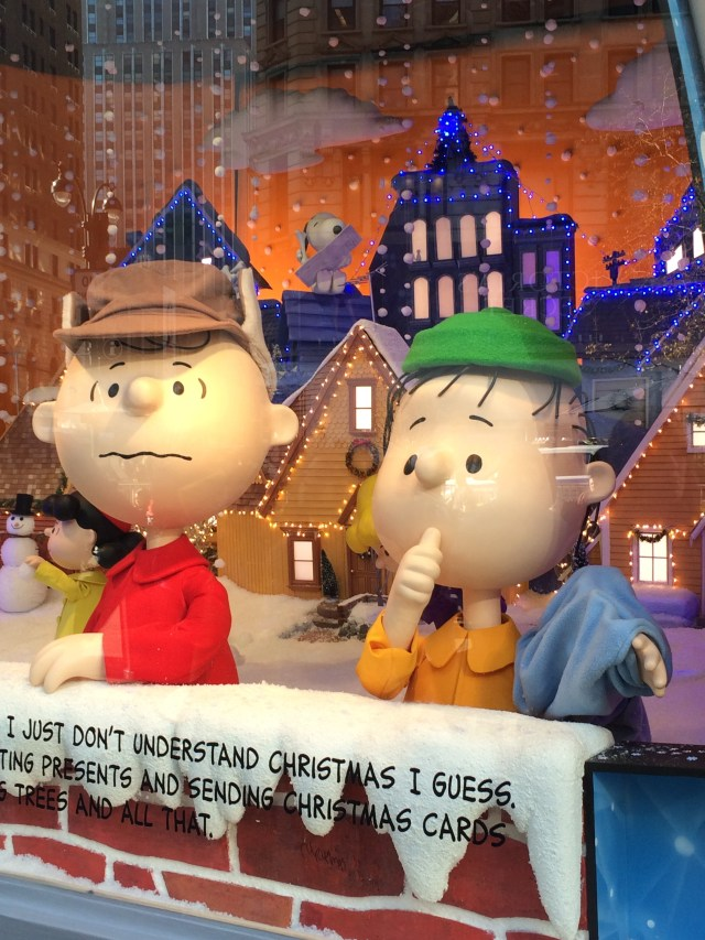 It's the Peanuts kids in Macy's windows charming everyone who stopped by to enjoy the season with them.