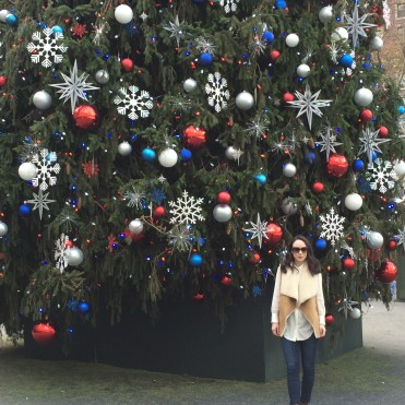 Taking turns at taking pics -- Rockefeller Center Christmas Tree 2015