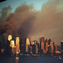 Artist rendering of the 9/11 tragedy