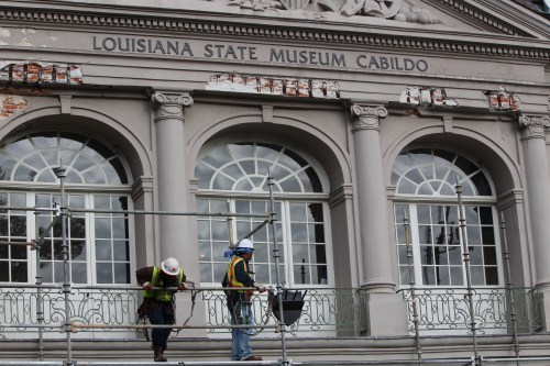 Sprucing up the Cabildo