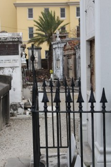 Looking down an alley of St. Louis Cemetery 1, New Orleans