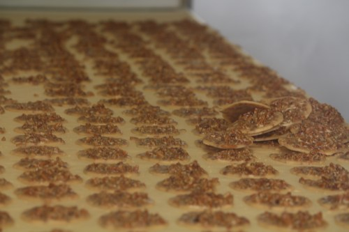 Ready for packaging: Pralines at Aunt Sally's