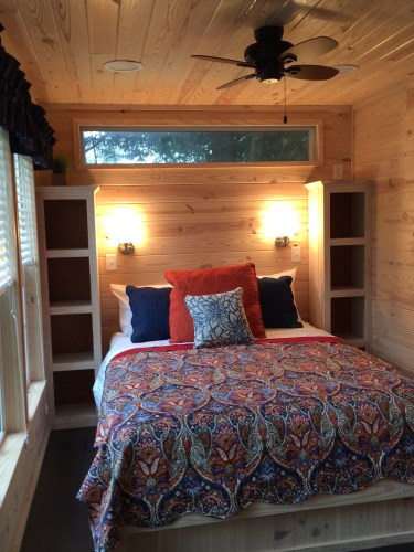 Plenty of storage in this comfortable, compact master bedroom.