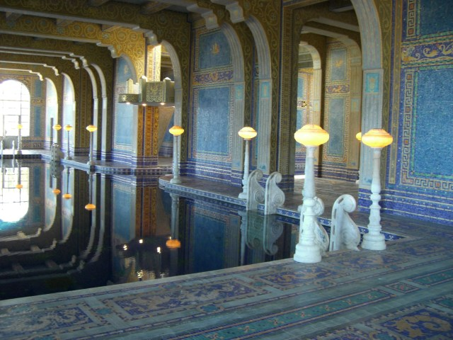 Interior pool, Hearst Castle