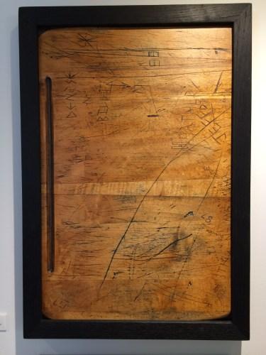 """Denise-n-Billi"" by Tom Shields (Found furniture: school desktop)"