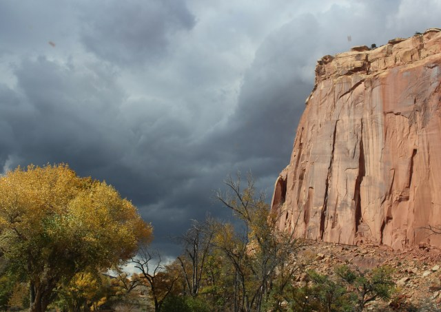 Pending storm at Capitol Reef National Park