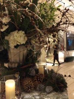 Close-up of hall arrangement at Grosvenor House, London