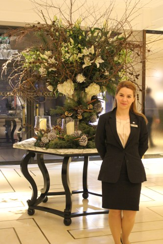 At your service: the friendly staff at Grosvenor House.