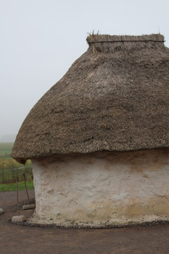 Close-up of thatched roof: Stonehenge Visitor Centre