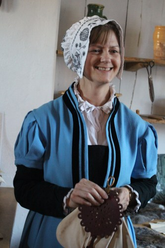 Demonstrating needle arts at Shakespeare's Birthplace