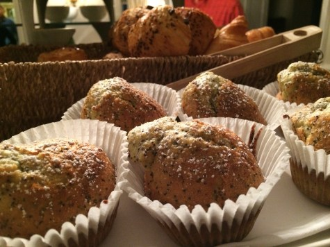 Muffins on the sideboard
