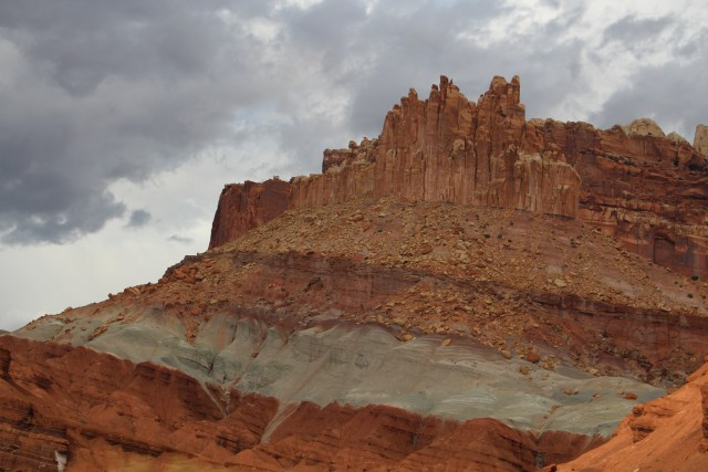 Layers of sandstone near Capitol Reef