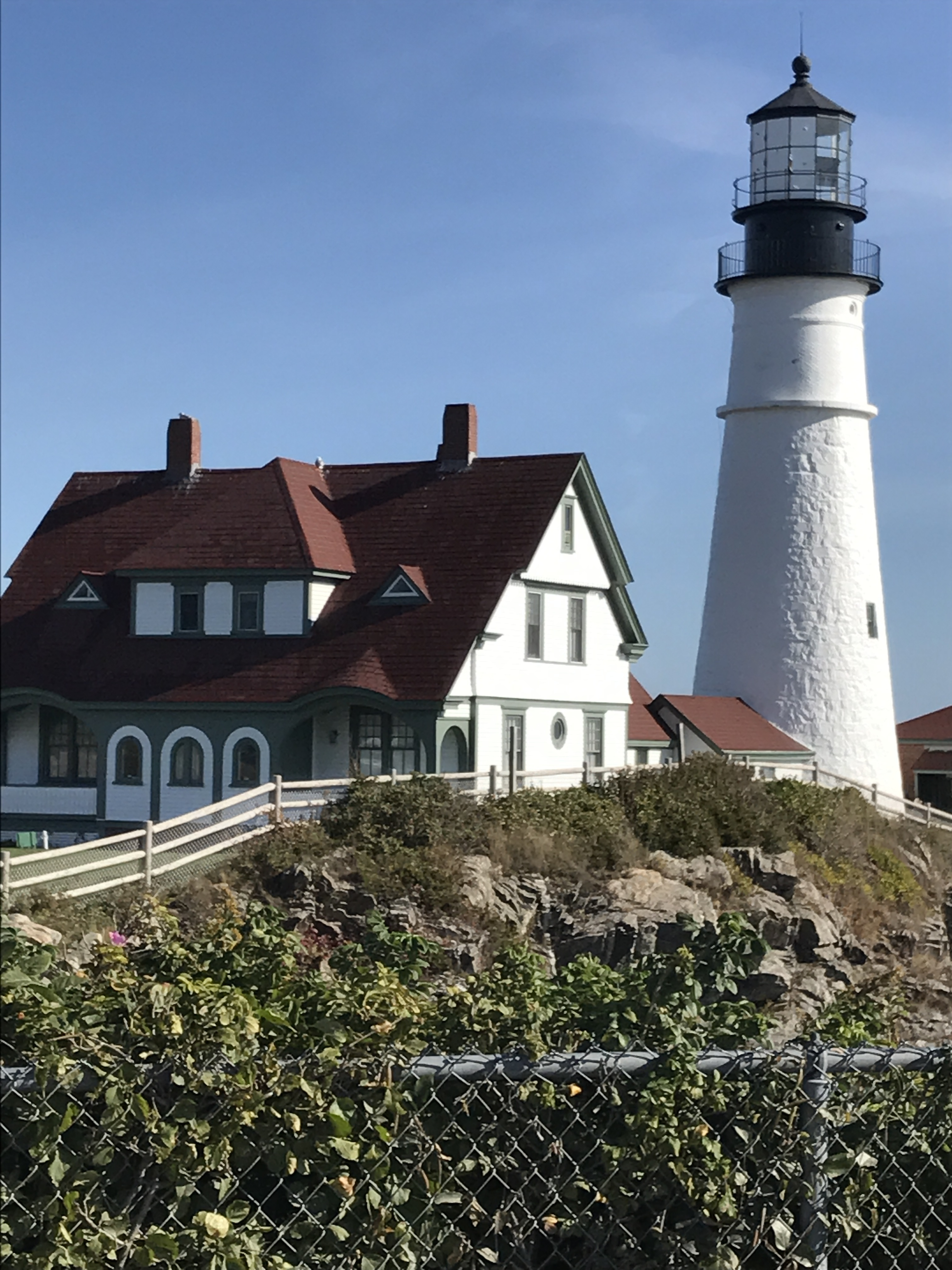 View from the walkway: Portland Head Light, Portland, ME