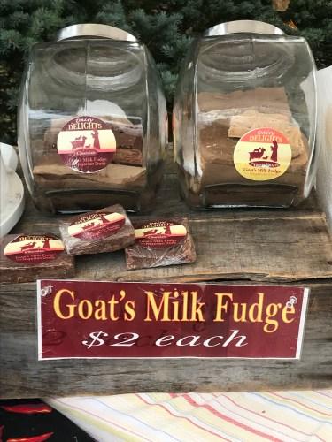 Goat's Milk Fudge at Peninsula Fall Festival