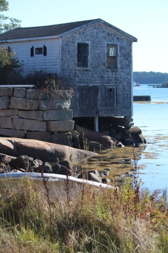 Weathered but still standing: harbor house in Stonington