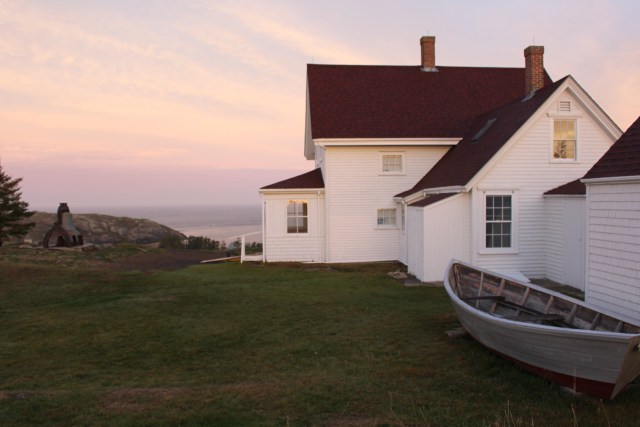 Monhegan Island Light at sunrise