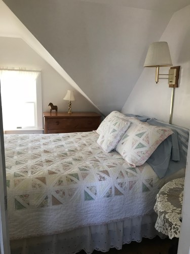 Our sweet bedroom in Monhegan at Shining Sails. So glad to be here!