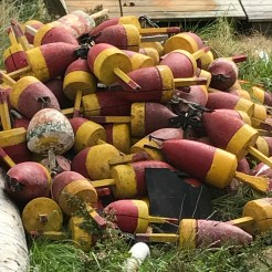 Buoys near Monhegan Light