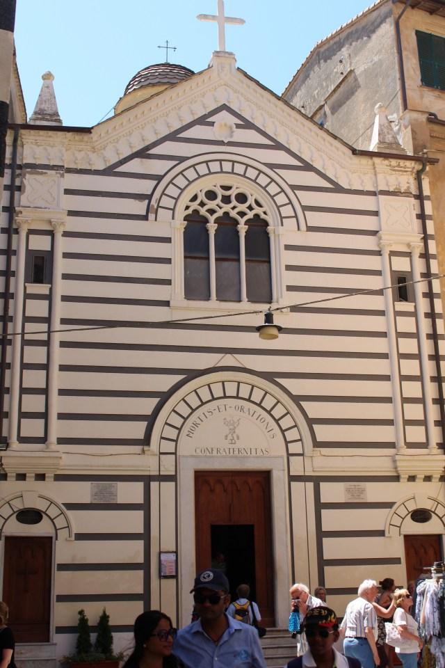 A lined facade in Cinque Terre