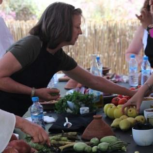 Melissa Hamilton (Locust Grove, GA) selects vegetables for her tagine.