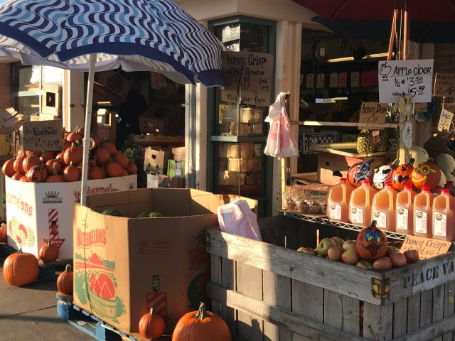 Fall brings apple cider and pumpkins to West Side Market.