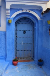 Balance and symmetry: blue door in Chefchaouen