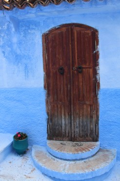 All blue except for the door: Chefchaouen
